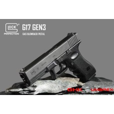 UMARE X GHK GLOCK 17 GEN 3 GBB Pistol plus G17 GAS MAG (Only For Asia)