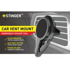 STINGER CAR VENT MOUNT PHONE HOLDER EMERGENCY TOOL