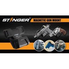 STINGER MAGNETIC GUN MOUNT & HOLDER WITH SAFETY TRIGGER GUARD PROTECTION