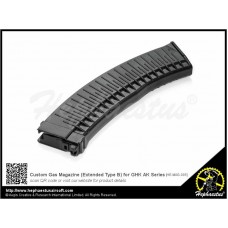 Hephaestus Custom Gas Magazine Black Color (Extended Type B) for GHK AK Series