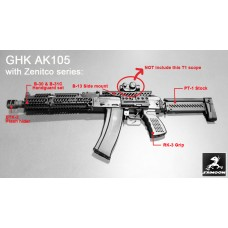 GHK GK105 GBBR with Zenimei Series