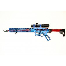 GHK M4 GBBR W/ F1 HOLLOW RAIL RECEIVER (BLUE & RED MIXED)