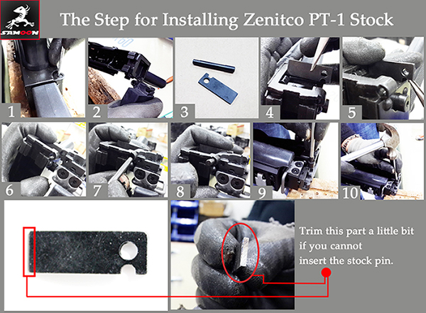 The Instruction of Zenimei PT-1 Installation