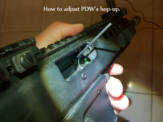 How to adjust PDW's hop-up